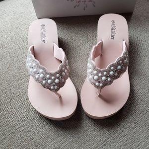 Olivia Miller Jeweled Flip Flops